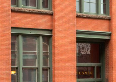 Tilsner Building, front entrance and windows