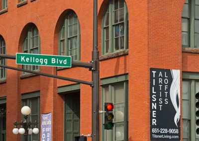 Tilsner Building, Kellogg Blvd corner